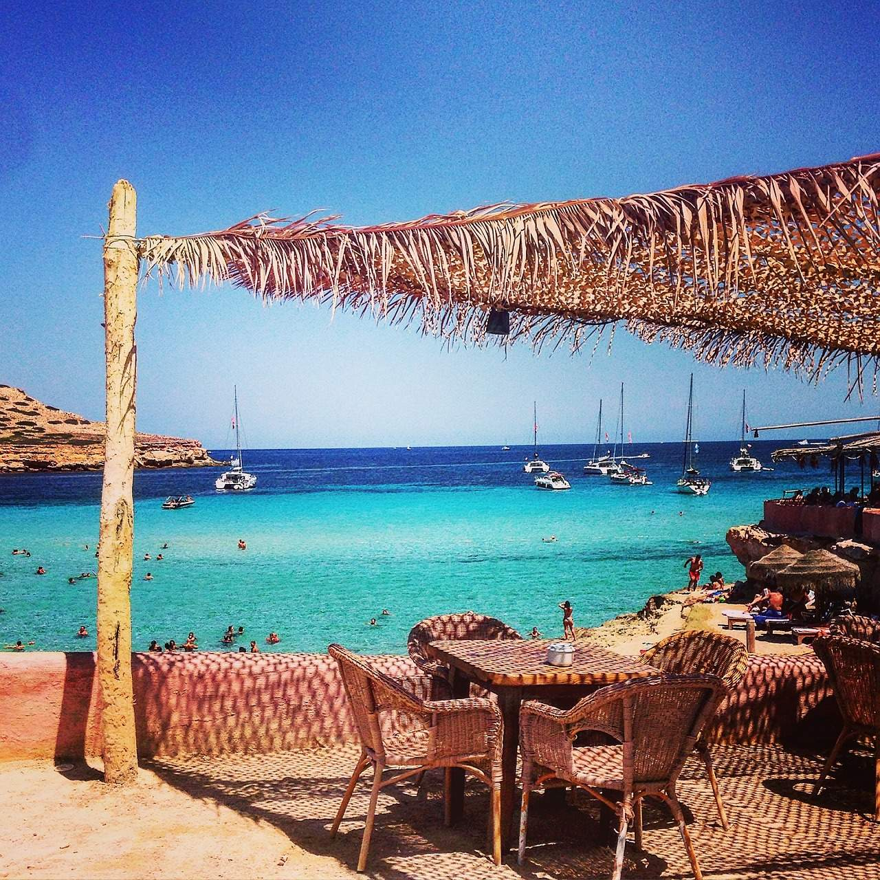 Ibiza uitzicht strand water